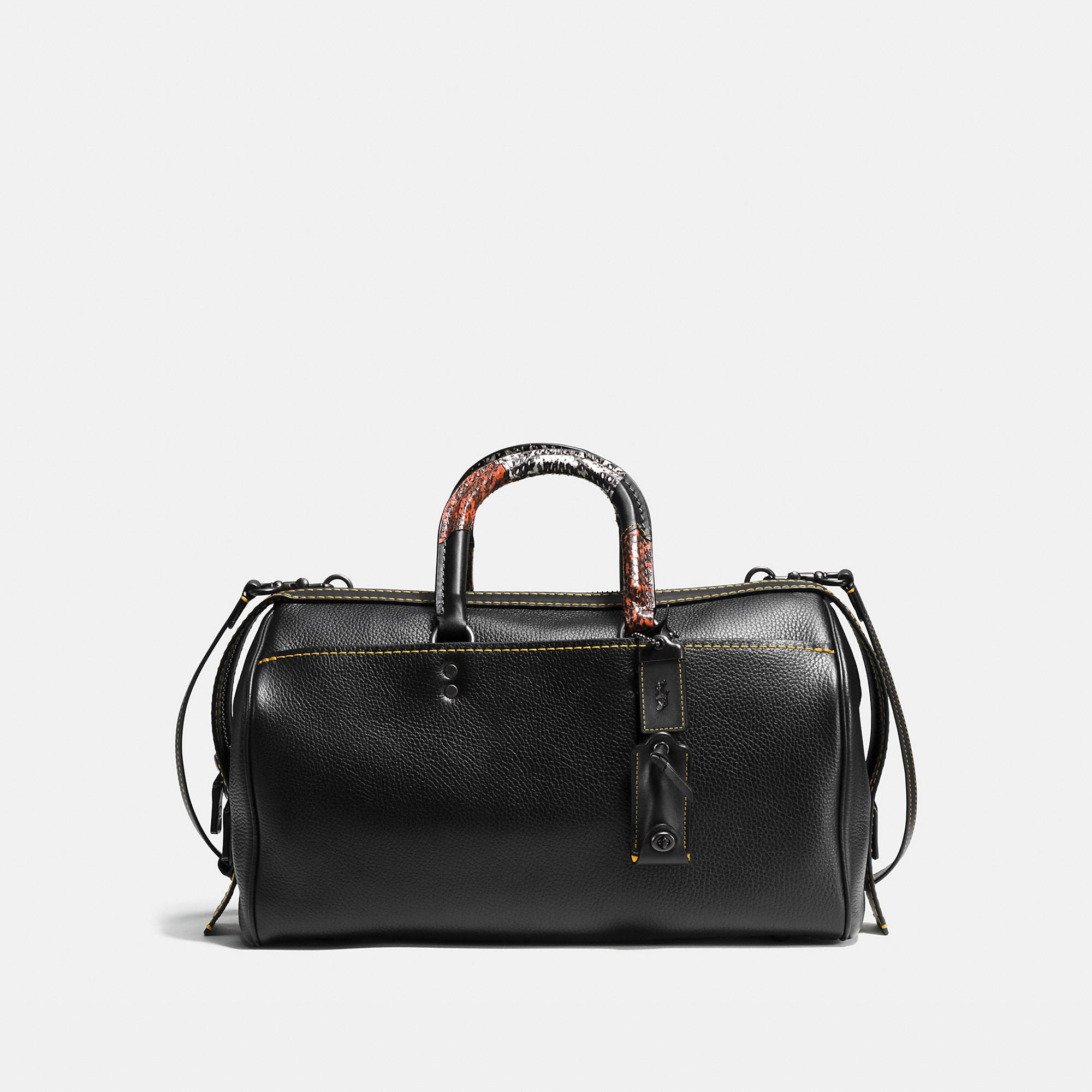 Coach Rogue Satchel 36 With Patchwork Snake Handle