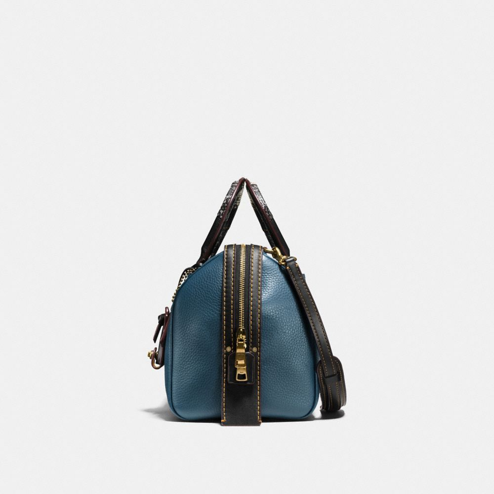 Rogue Satchel in Glovetanned Pebble Leather With Patchwork Snake Handle - Autres affichages A1
