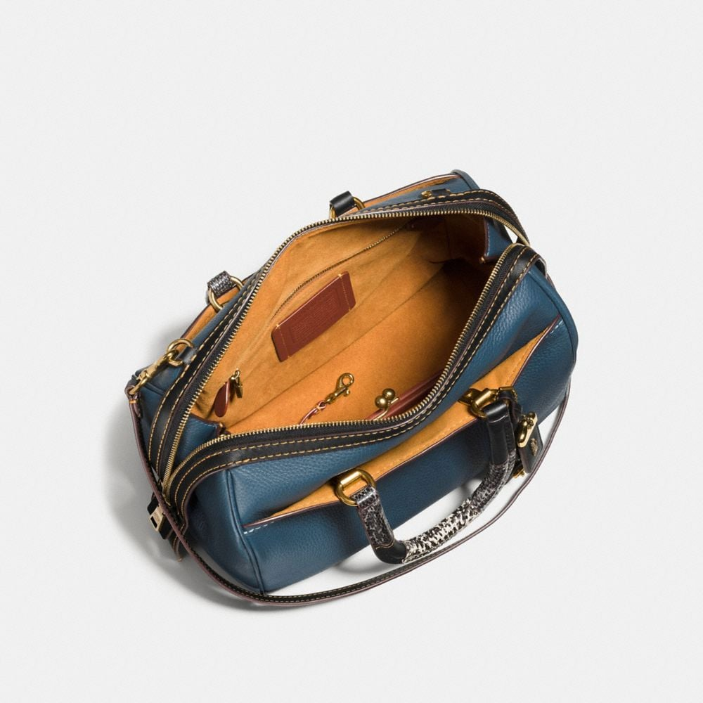 Rogue Satchel in Glovetanned Pebble Leather With Patchwork Snake Handle - Autres affichages A2