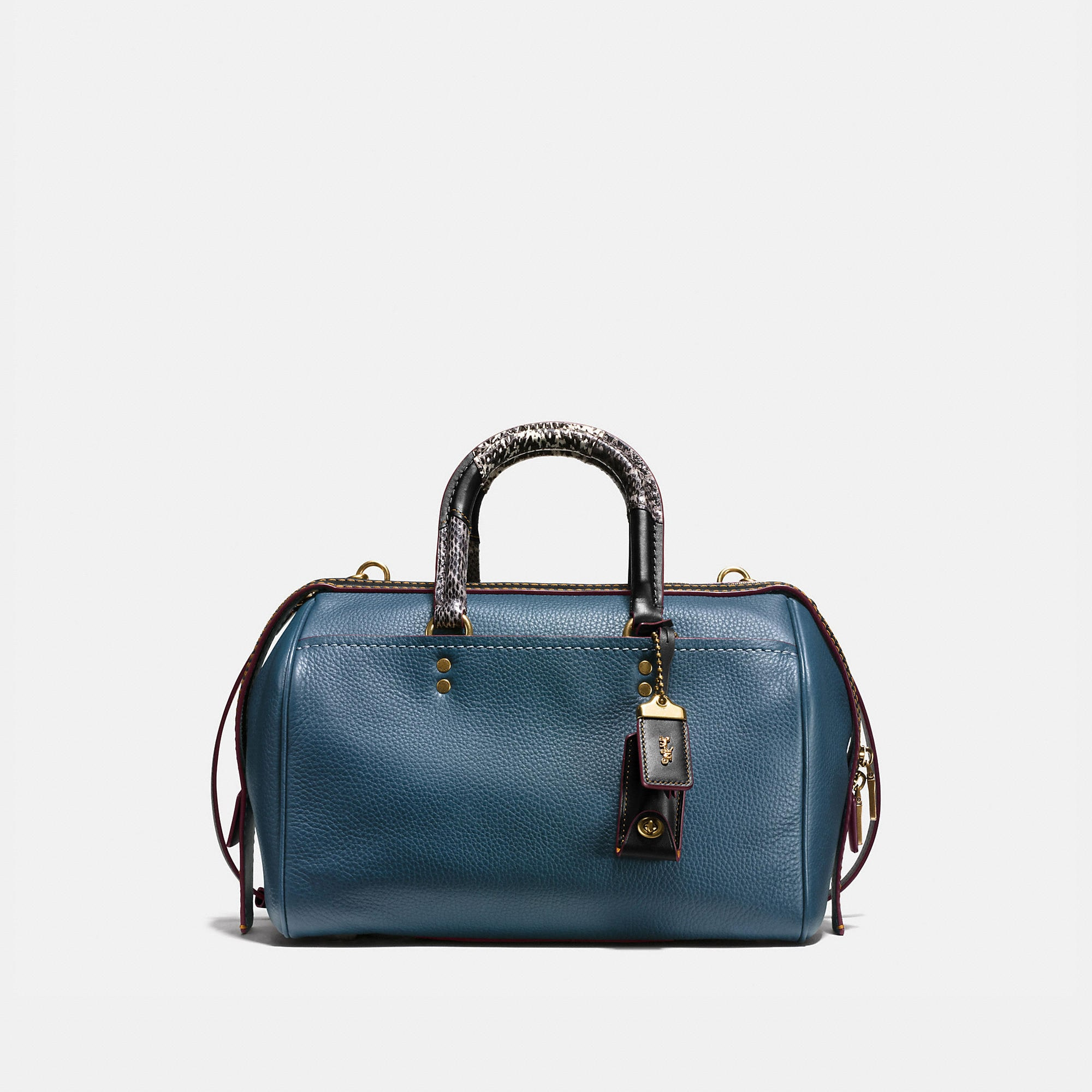 Silver leather tote bag uk - Rogue Satchel In Glovetanned Pebble Leather