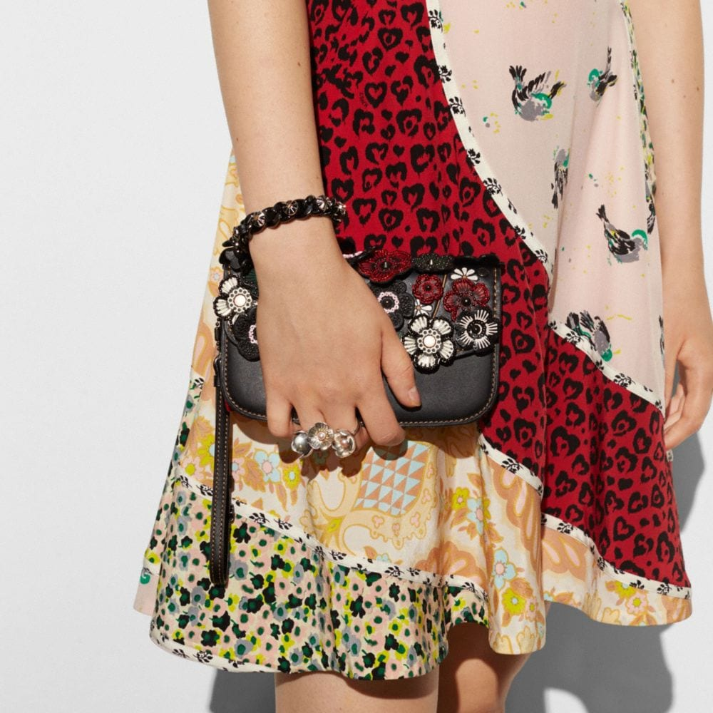 Coach Small Clutch With Tea Rose Applique Alternate View 2