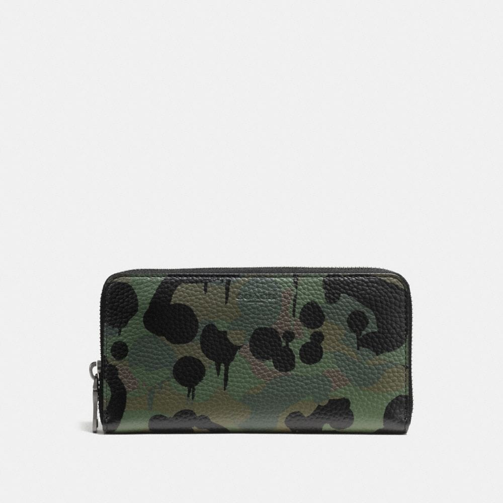 Coach Accordion Wallet With Wild Beast Print