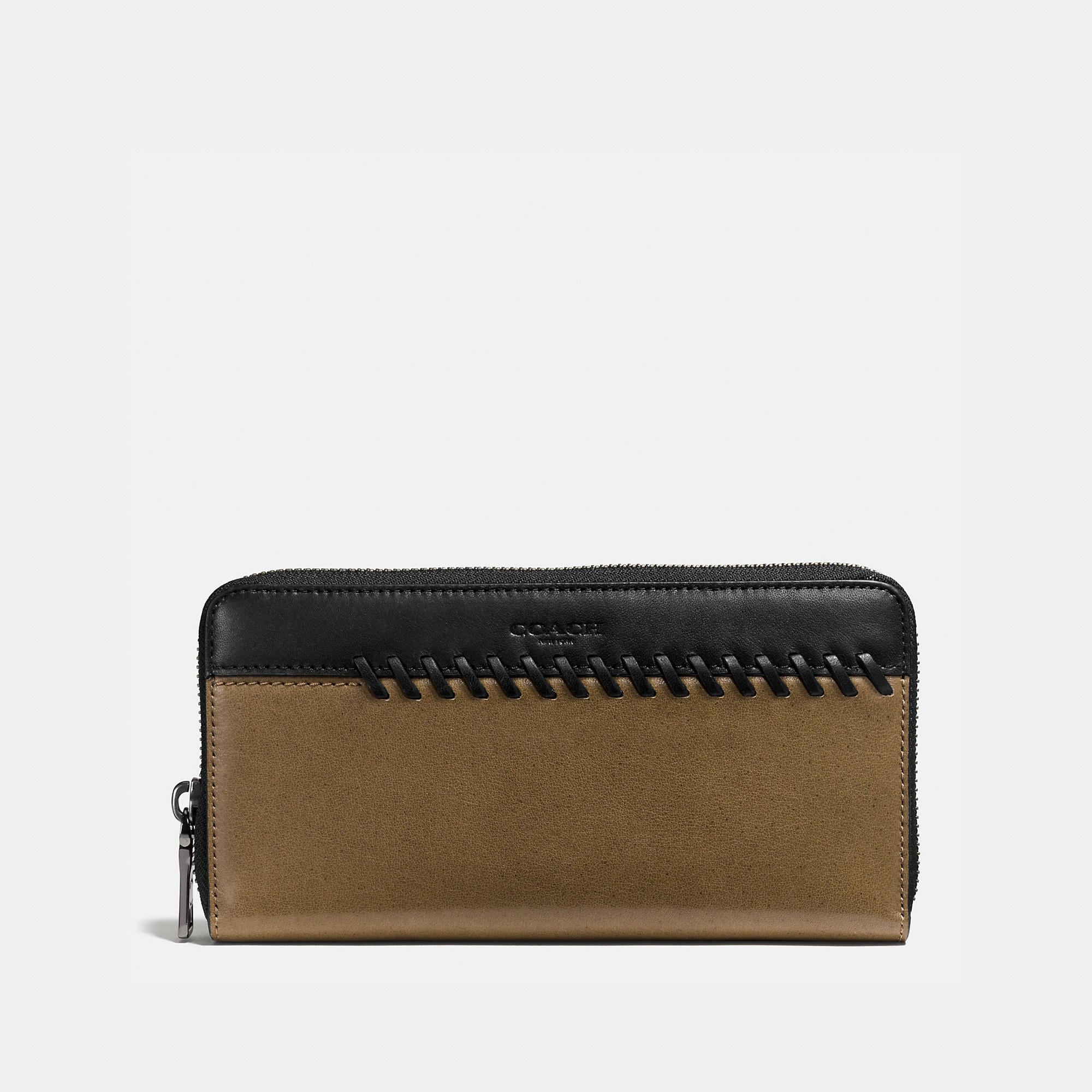 Coach Rip And Repair Accordion Wallet In Sport Calf Leather