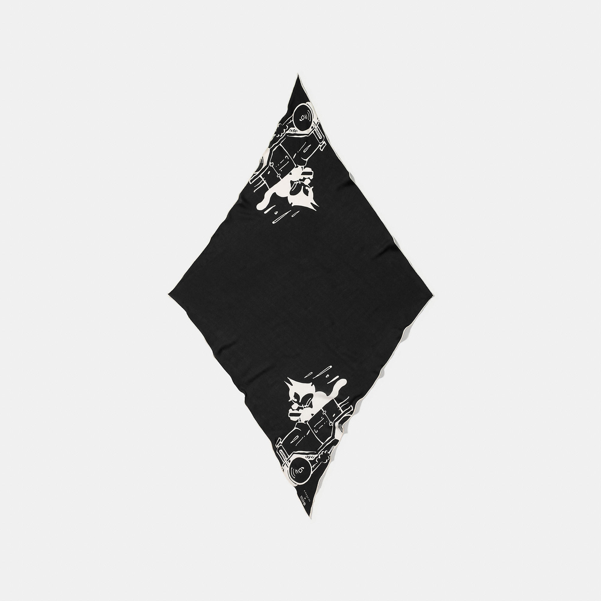 Coach Felix The Cat Oversized Silk Diamond Scarf