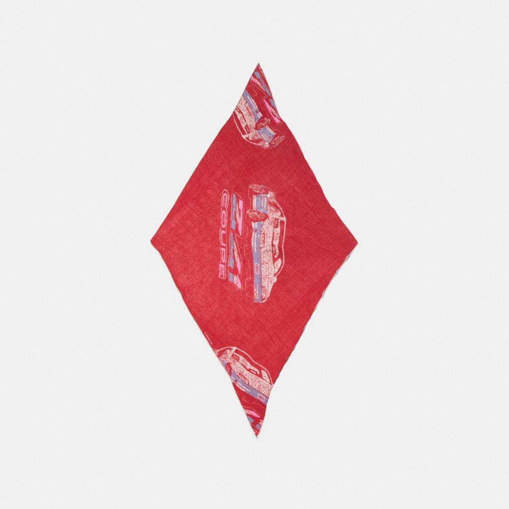 CARS OVERSIZED SILK DIAMOND SCARF