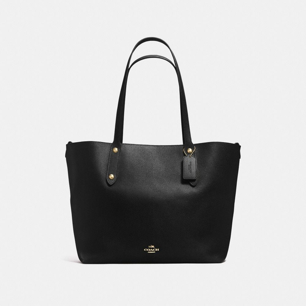 LARGE MARKET TOTE IN POLISHED PEBBLE LEATHER