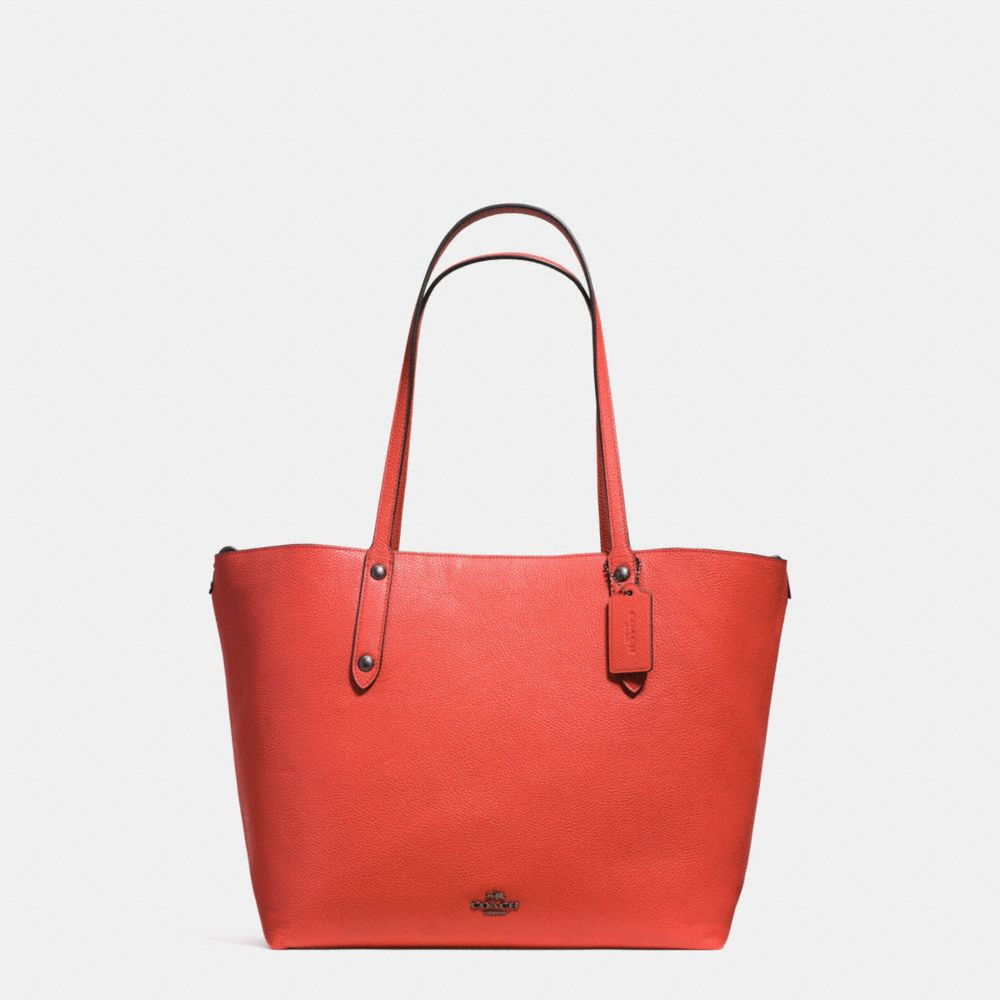 LARGE MARKET TOTE IN PRINTED PEBBLE LEATHER