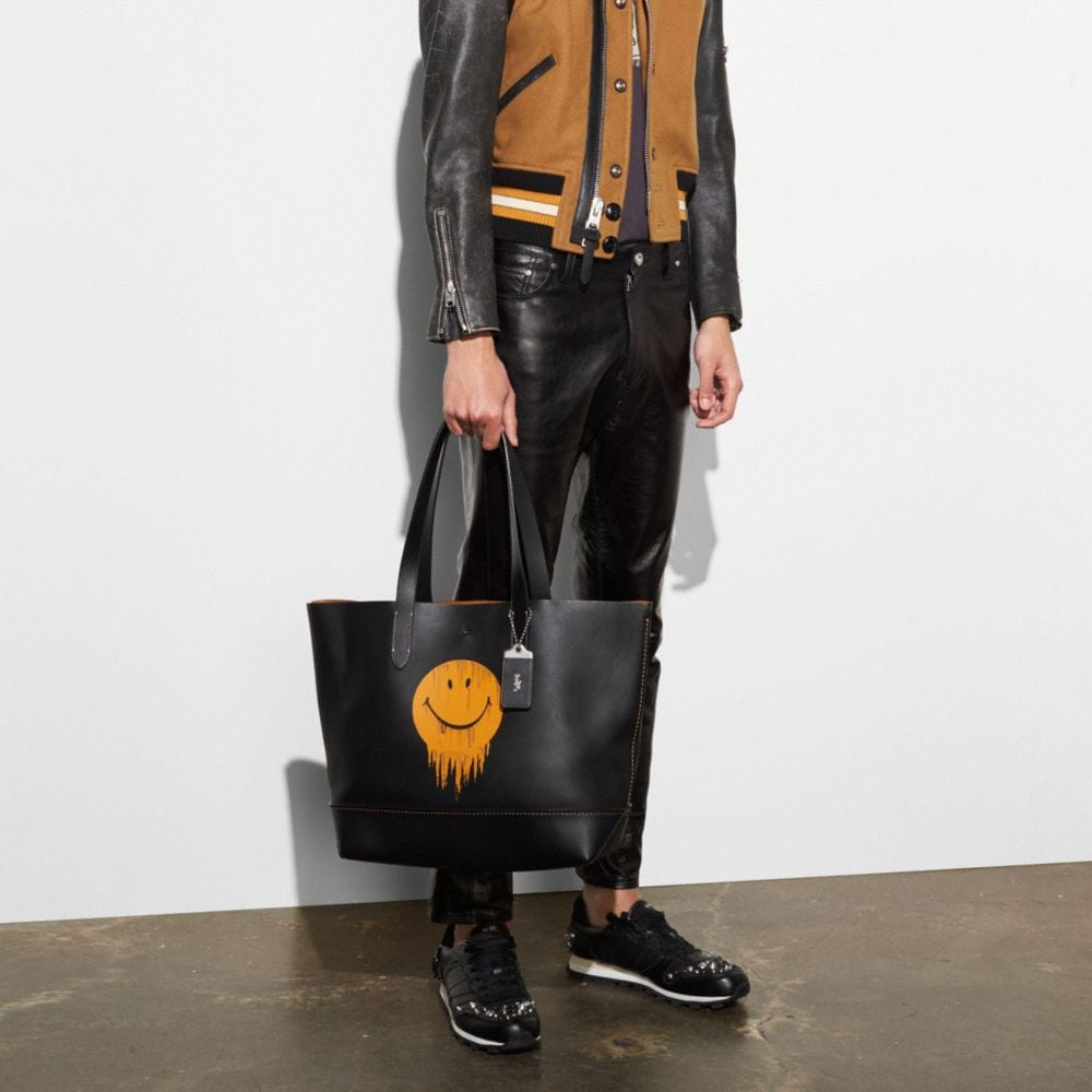 Coach Gotham Tote in Glove Calf Leather With Gnarly Face Print Alternate View 3