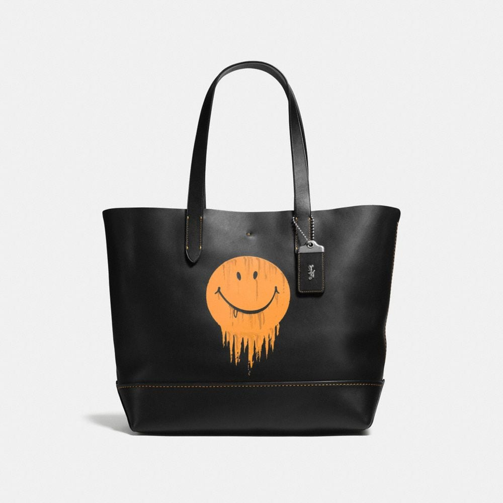 Coach Gotham Tote in Glove Calf Leather With Gnarly Face Print