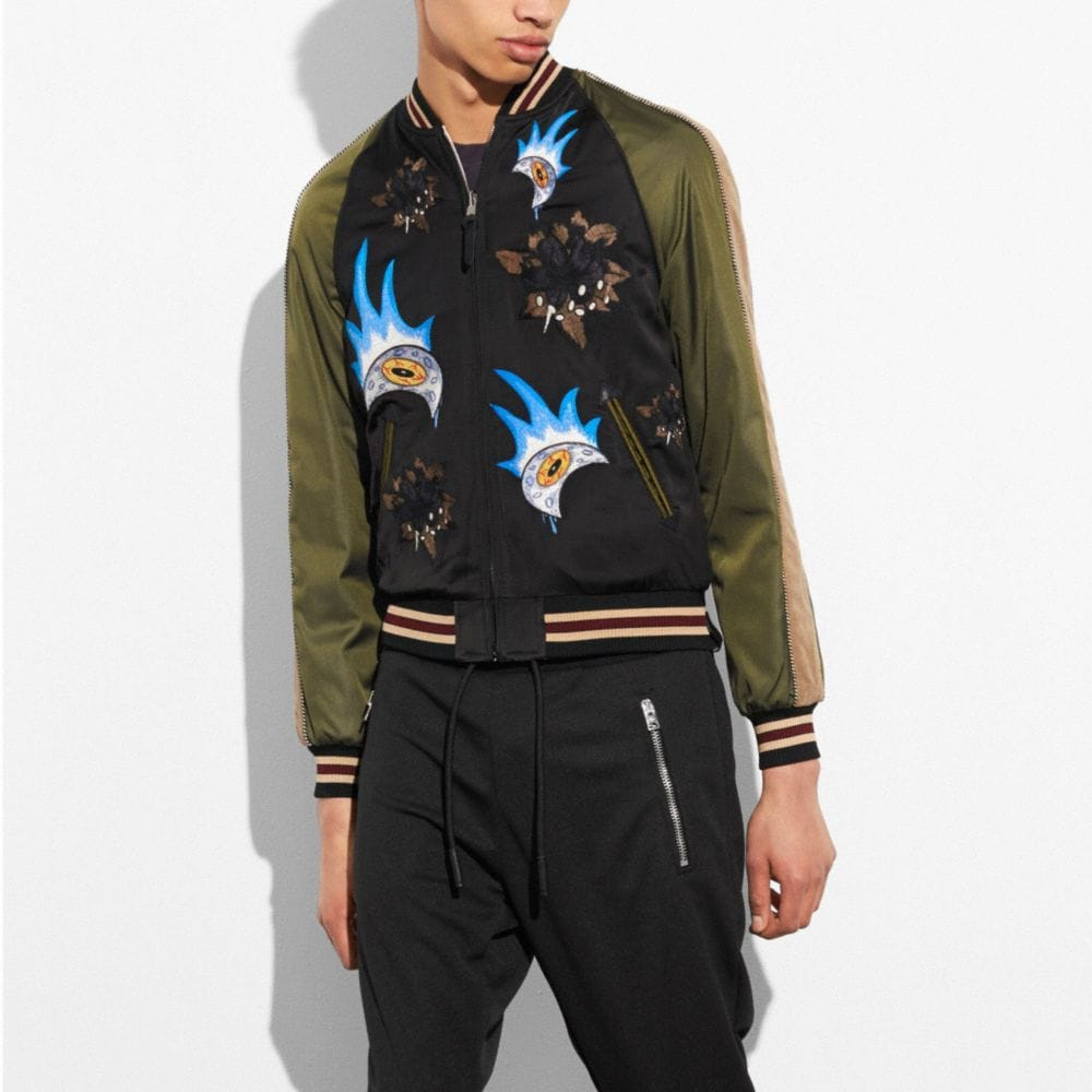 Coach Moon and Skull Souvenir Jacket