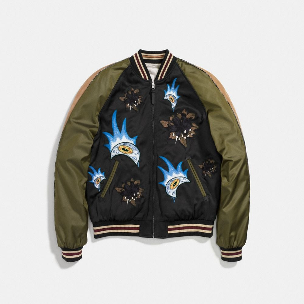 Coach Moon and Skull Souvenir Jacket Alternate View 1