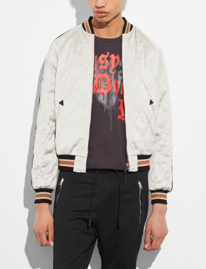 Coach Moon and Skull Souvenir Jacket Black/Military Runway Shop Men Ready-to-Wear Alternate View 2