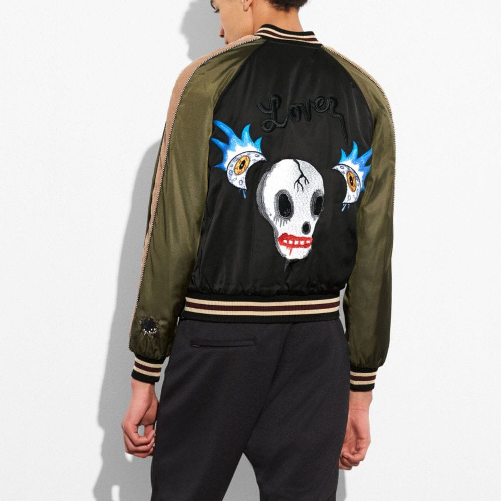 Coach Moon and Skull Souvenir Jacket Alternate View 3