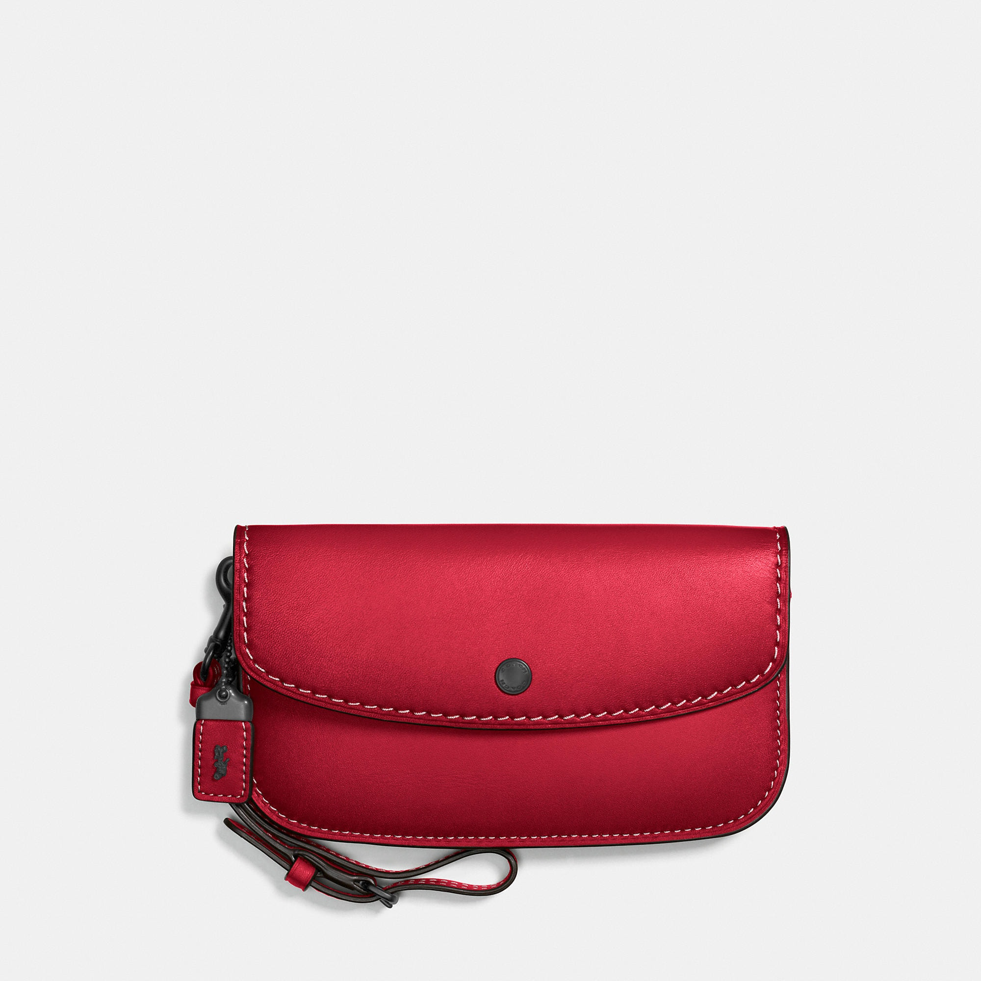 Coach Clutch In Glovetanned Leather