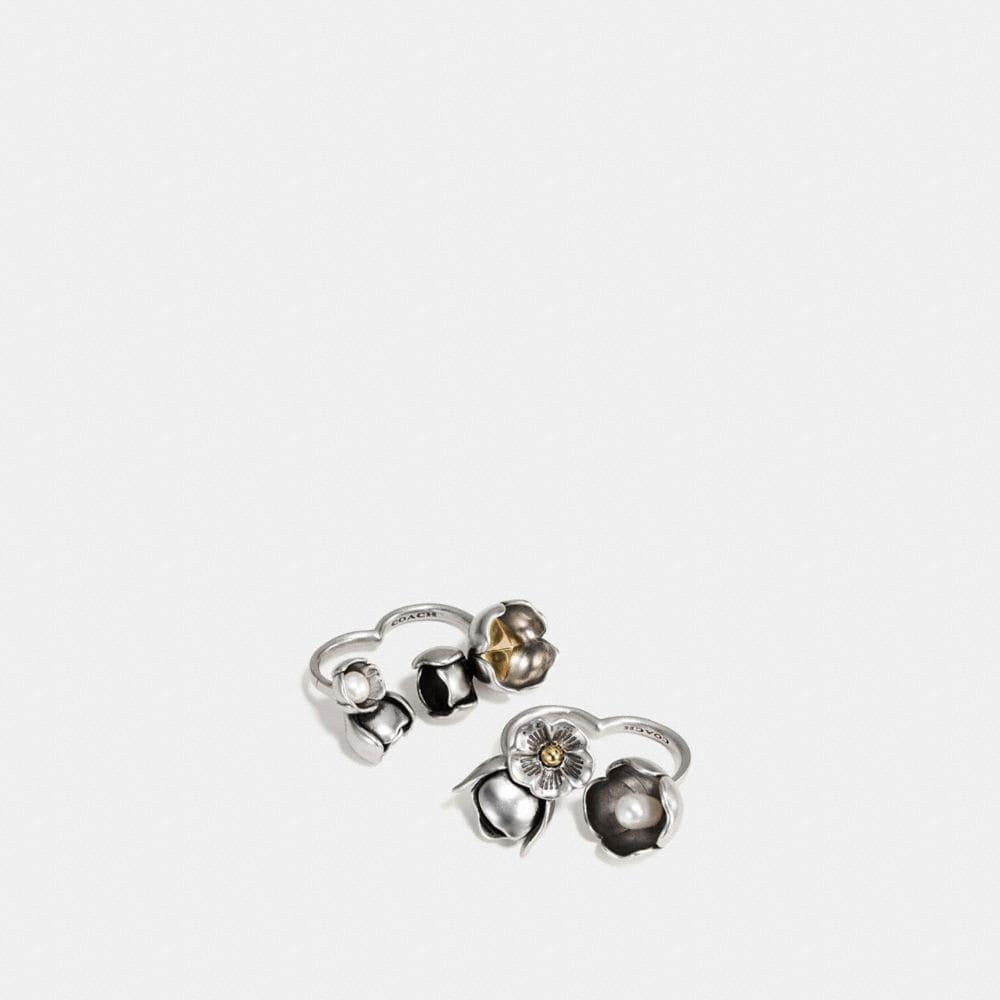Studded Tea Rose Duster Ring Set