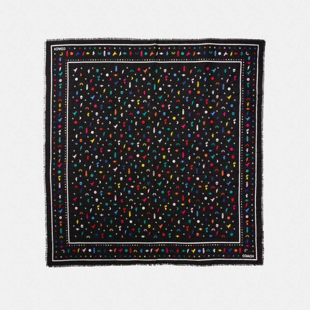Coach Monogram Icons Oversized Square Bandana