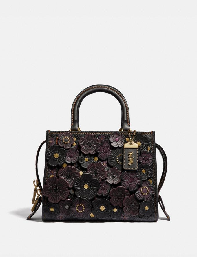 Coach Rogue 25 With Tea Rose Black/Brass