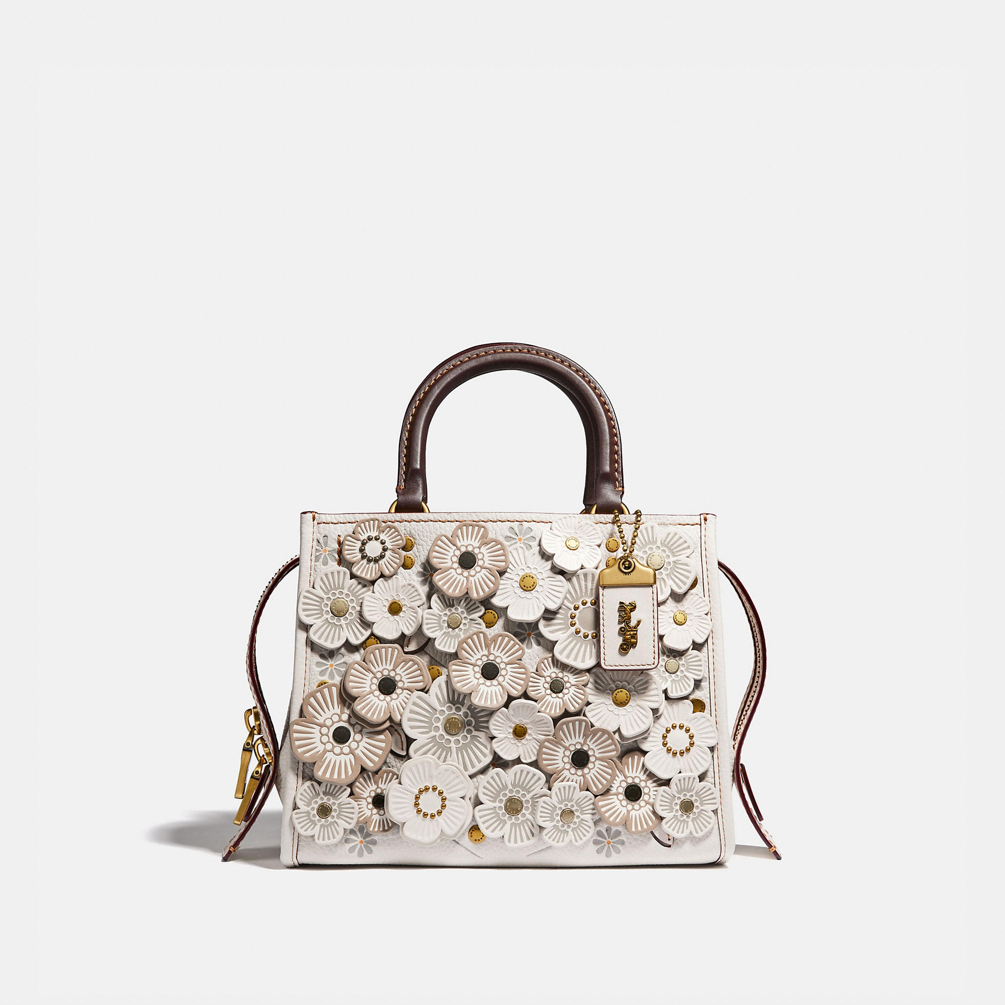 Coach Rogue 25 With Tea Rose Applique