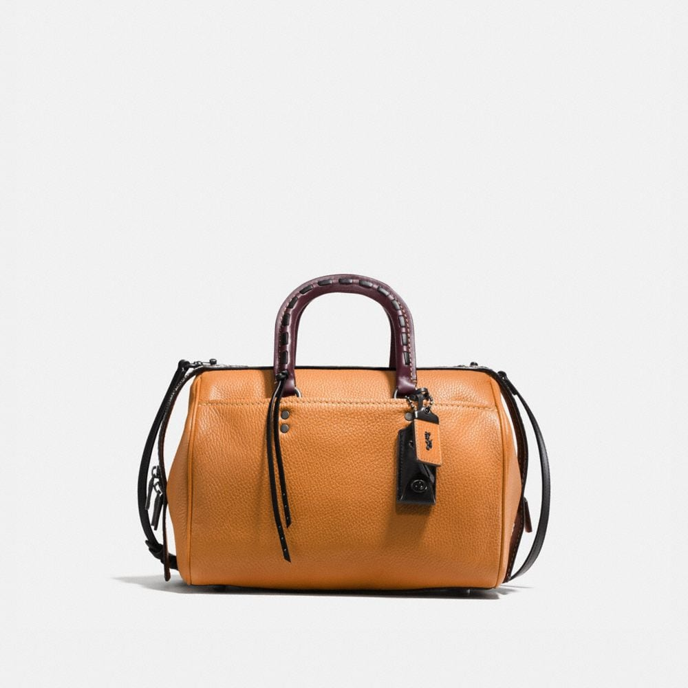 Rogue Satchel in Glovetanned Pebble Leather With Colorblock Snake Detail