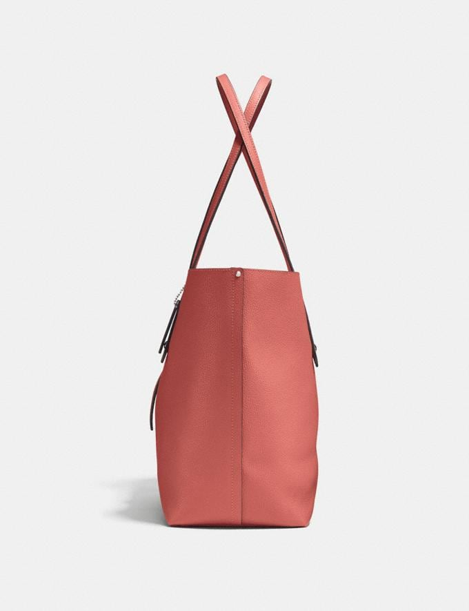 Coach Market Tote Bright Coral/Silver Gifts For Her Alternate View 1