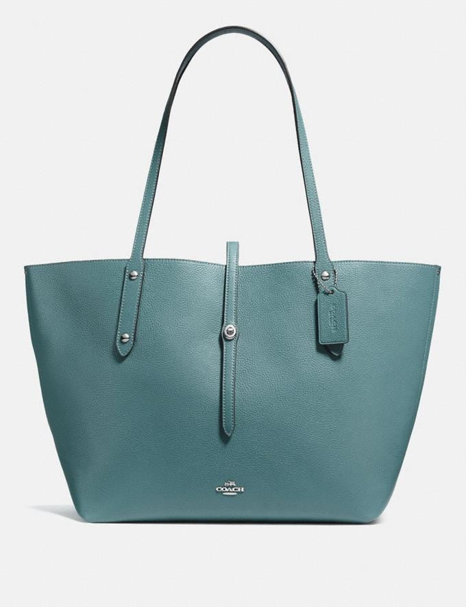 Coach Market Tote Sage/Silver Personalise Personalise It Monogram For Her