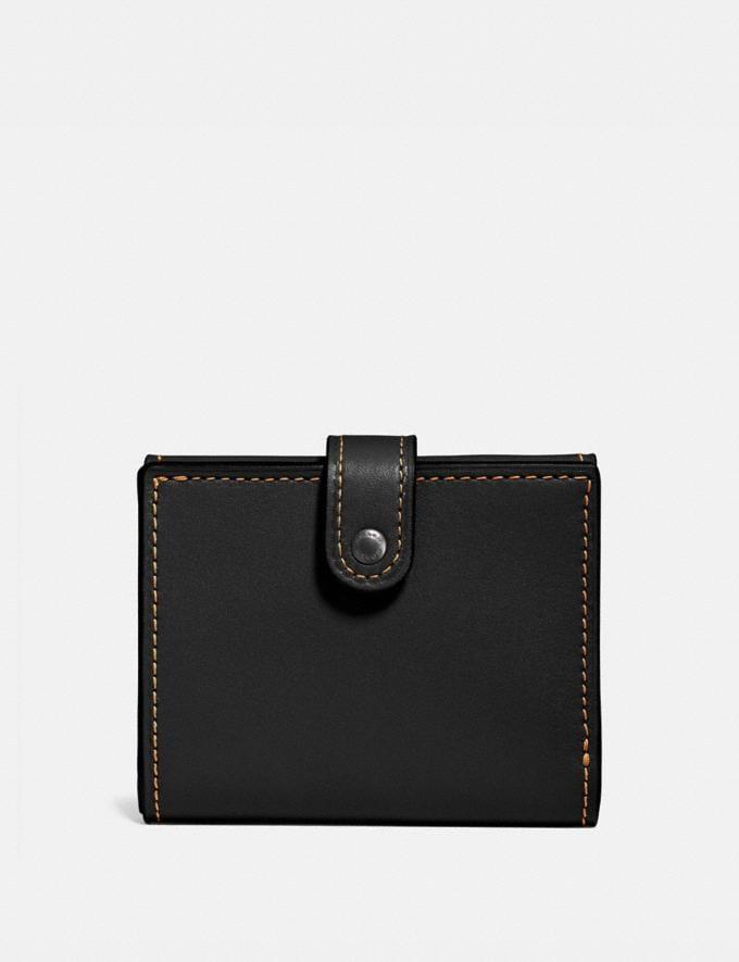 Coach Small Trifold Wallet Black/Black Copper Women Wallet Guide