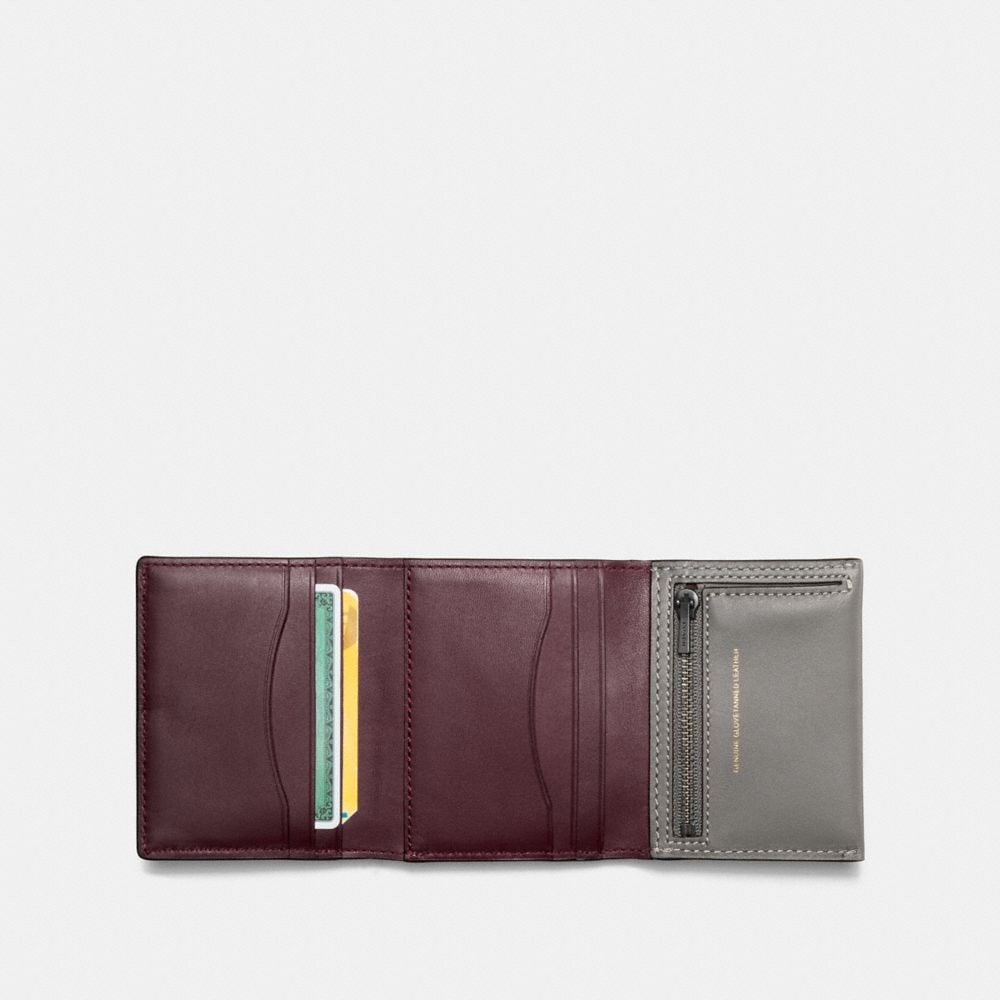 Small Trifold Wallet in Glovetanned Leather - Alternate View A1