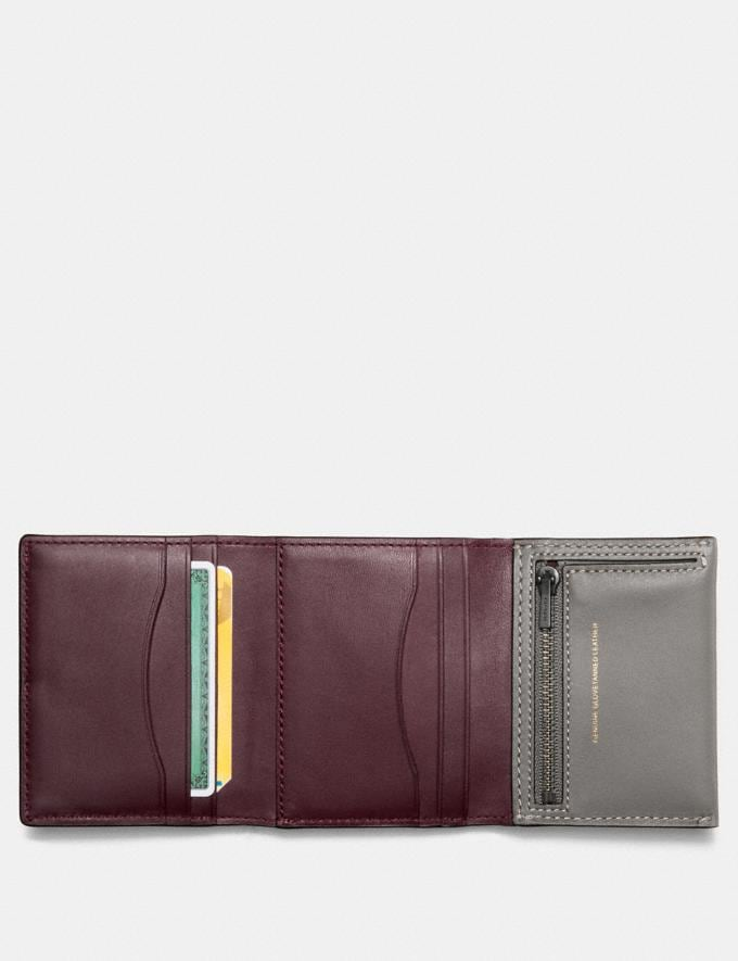 Coach Small Trifold Wallet Heather Grey/Black Copper Women Wallet Guide Small Alternate View 1