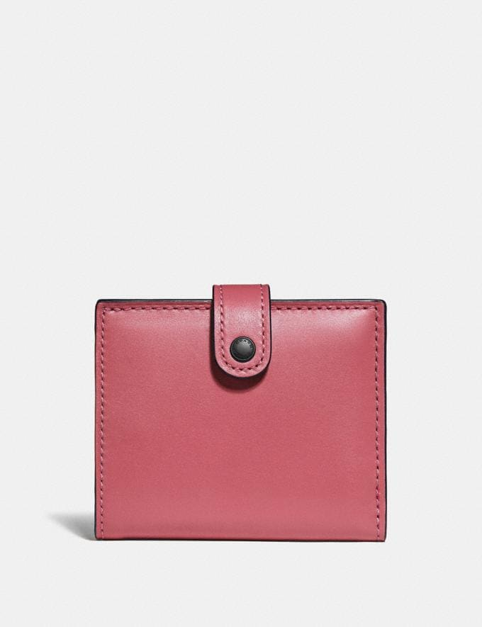 Coach Small Trifold Wallet Bright Coral/Pewter Women View All