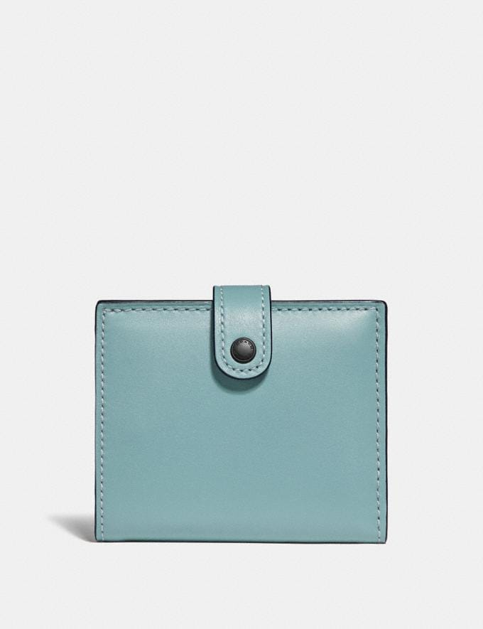Coach Small Trifold Wallet Light Teal/Pewter Women Wallets & Wristlets Small Wallets