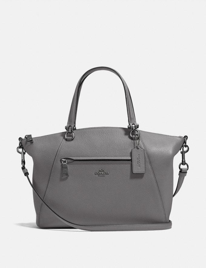 Coach Prairie Satchel Heather Grey/Dark Gunmetal SALE Women's Sale Bags