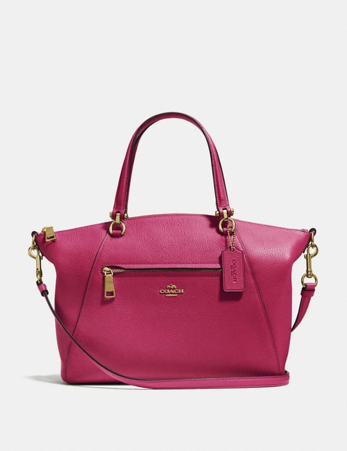 Coach Prairie Satchel Bright Cherry/Gold Cyber Monday Women's Cyber Monday Sale 30 Percent Off