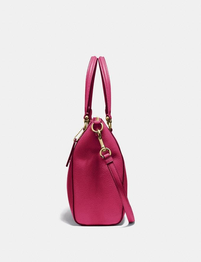 Coach Prairie Satchel Bright Cherry/Gold Cyber Monday Women's Cyber Monday Sale 30 Percent Off Alternate View 1