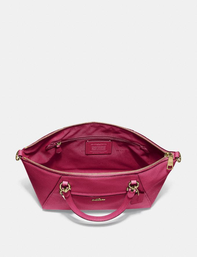 Coach Prairie Satchel Bright Cherry/Gold Cyber Monday Women's Cyber Monday Sale 30 Percent Off Alternate View 3