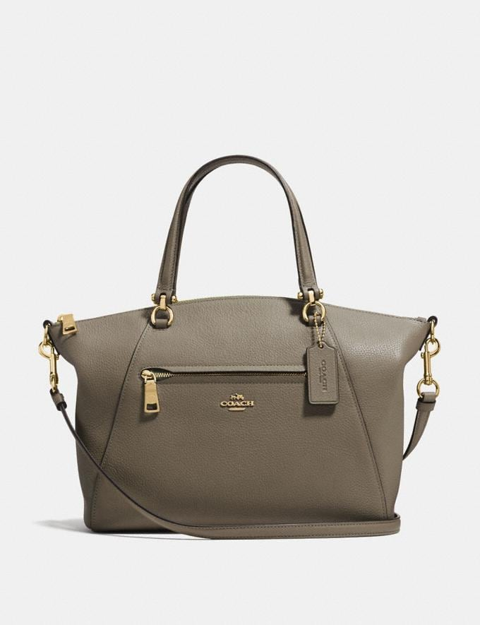 Coach Prairie Satchel Gold/Moss SALE Women's Sale