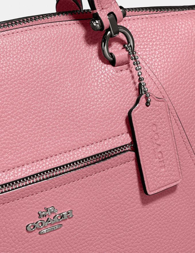 Coach Prairie Satchel True Pink/Gunmetal Customization For Her The Monogram Shop Alternate View 4