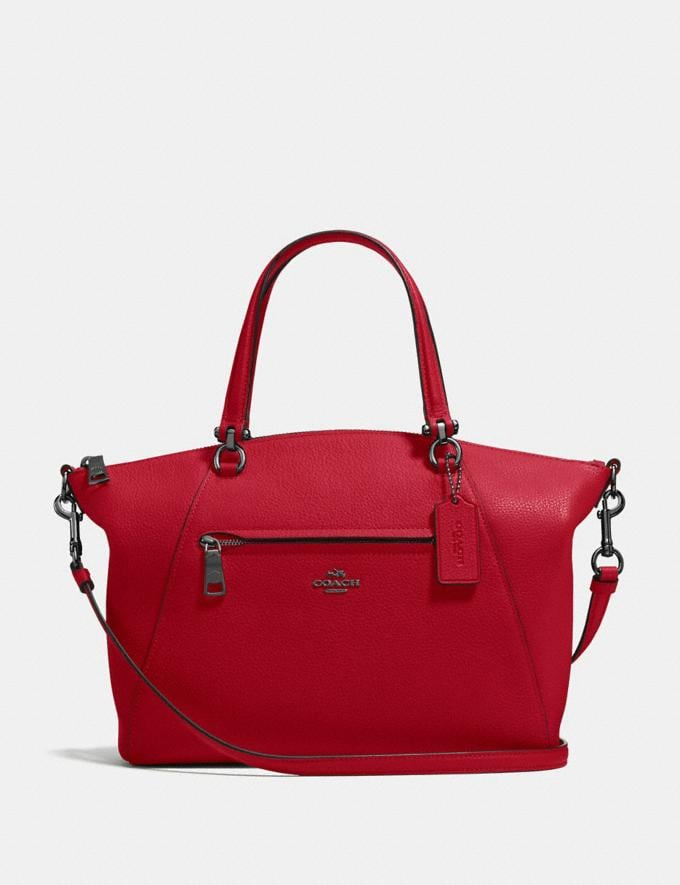 Coach Prairie Satchel Red Apple/Gunmetal Women Bags Satchels