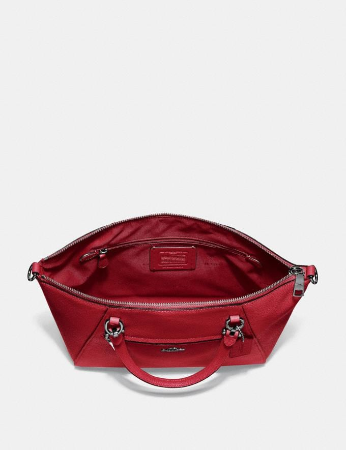 Coach Prairie Satchel Red Apple/Gunmetal Women Bags Satchels Alternate View 3