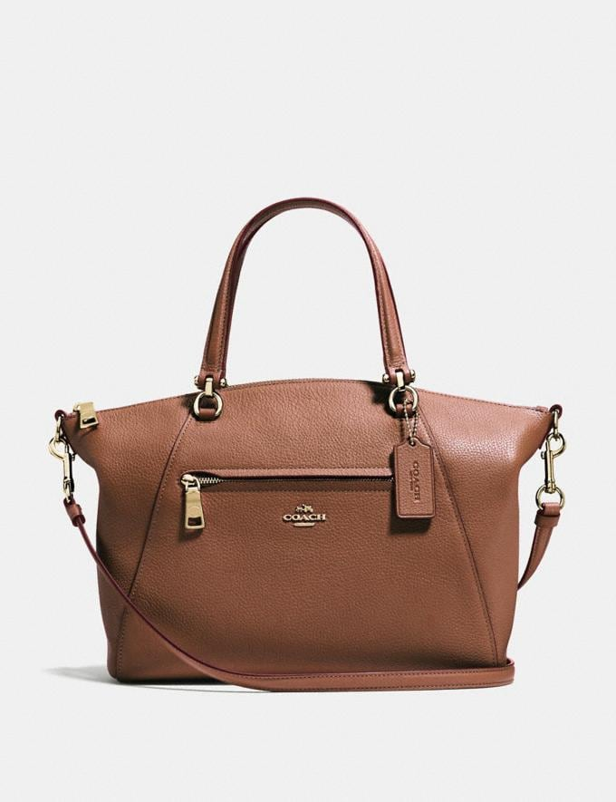 Coach Prairie Satchel 1941 Saddle/Light Gold SALE Women's Sale