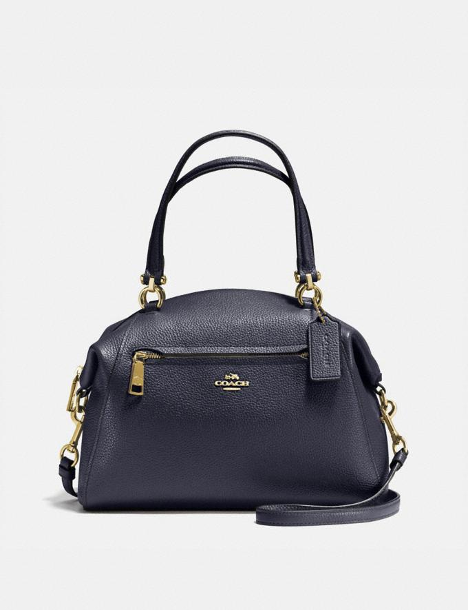 Coach Prairie Satchel Navy/Light Gold SUMMER SALE Women's Sale New to Sale New to Sale