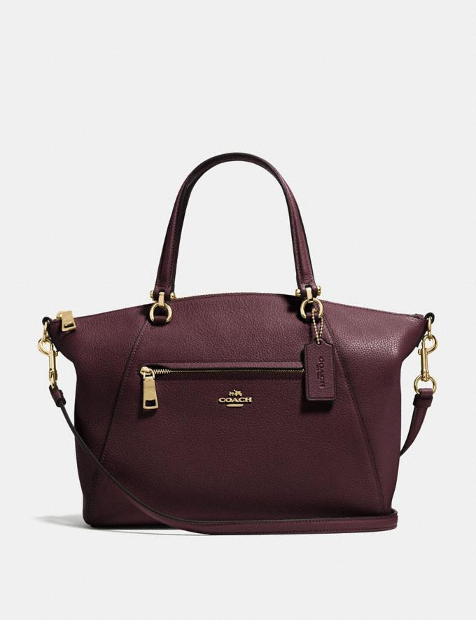 Coach Prairie Satchel Oxblood/Light Gold SALE Women's Sale