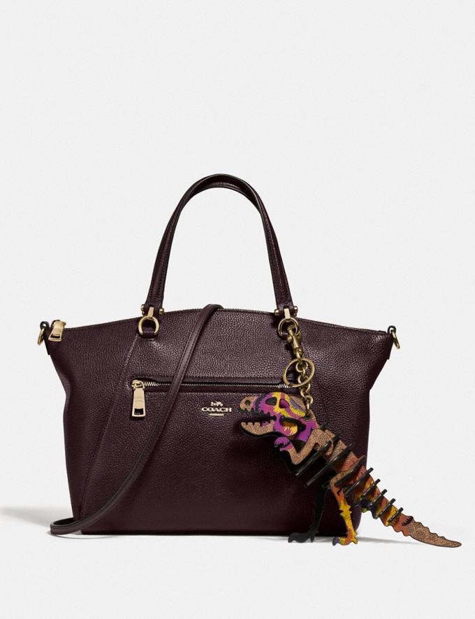 Coach Prairie Satchel Oxblood/Light Gold Women Bags Satchels Alternate View 1