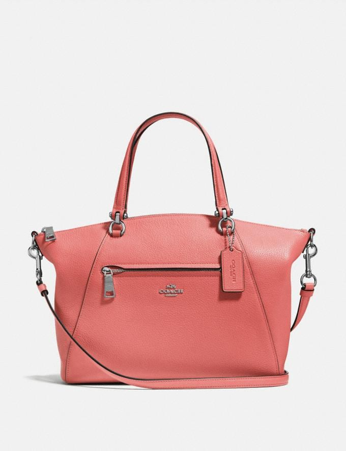 Coach Prairie Satchel Bright Coral/Silver SALE Women's Sale New to Sale New to Sale