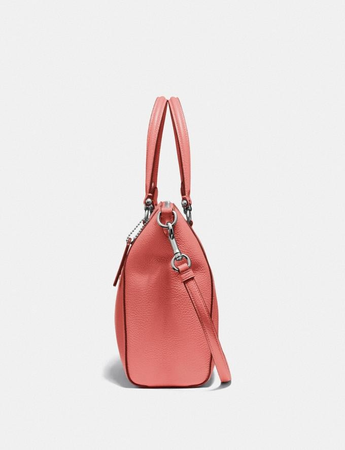 Coach Prairie Satchel Bright Coral/Silver Women Bags Satchels Alternate View 1