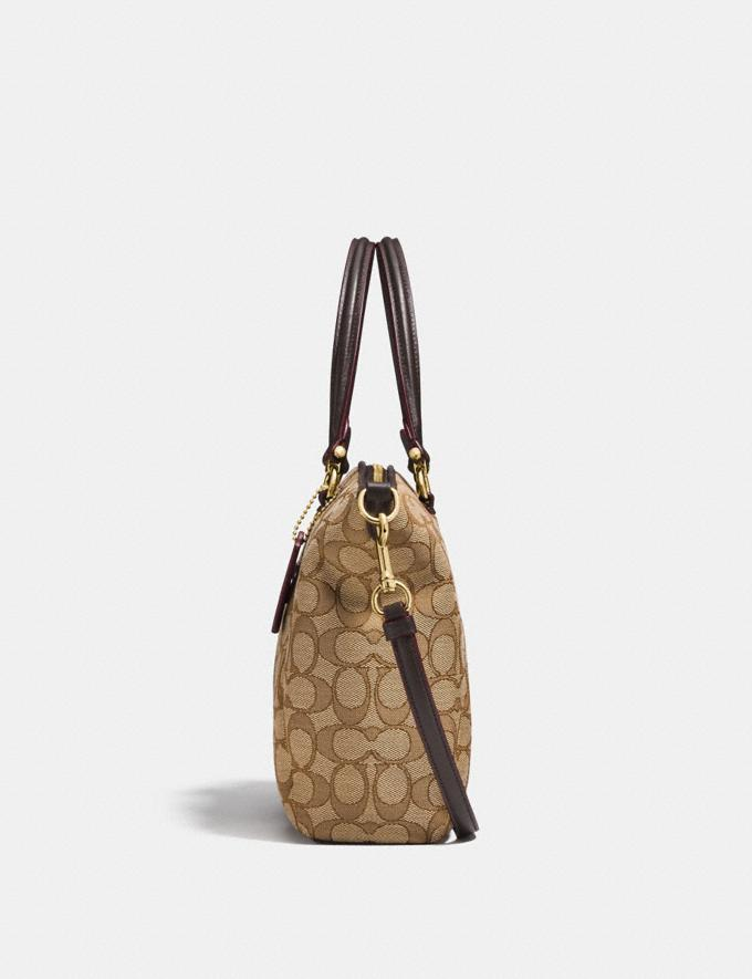 Coach Prairie Satchel in Signature Jacquard Khaki/Brown/Light Gold New Featured Online Exclusives Alternate View 1