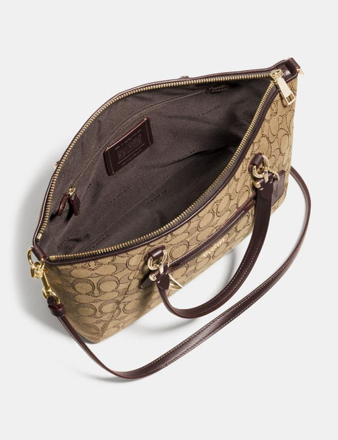 Coach Prairie Satchel in Signature Jacquard Khaki/Brown/Light Gold New Featured Online Exclusives Alternate View 2
