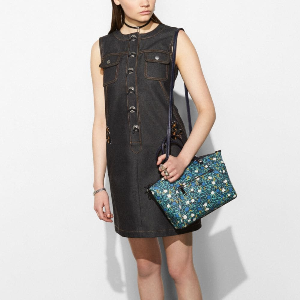 Coach Prairie Satchel in Polished Pebble Leather With Floral Print Alternate View 4