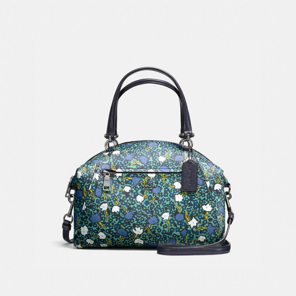 Coach Prairie Satchel in Polished Pebble Leather With Floral Print
