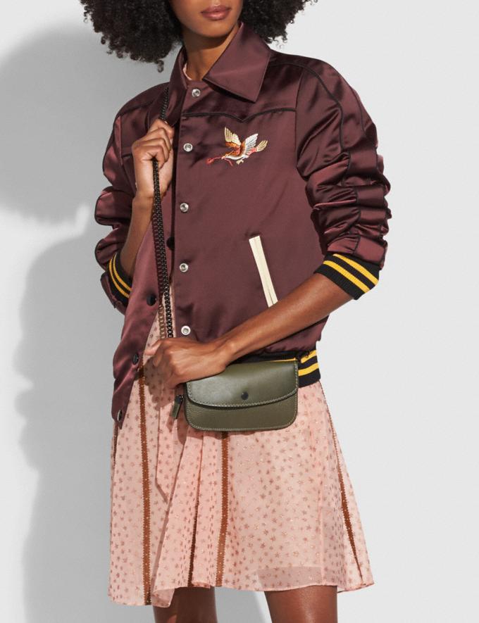 Coach Clutch With Colorblock Snakeskin Handle Olive/Black Copper SALE Women's Sale Wallets & Wristlets Alternate View 2