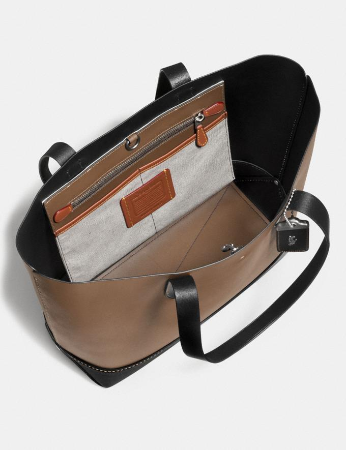 Coach Gotham Tote in Glovetanned Calf Leather Black/Marigold/Light Antique Nickel Men Bags Totes & Duffles Alternate View 2